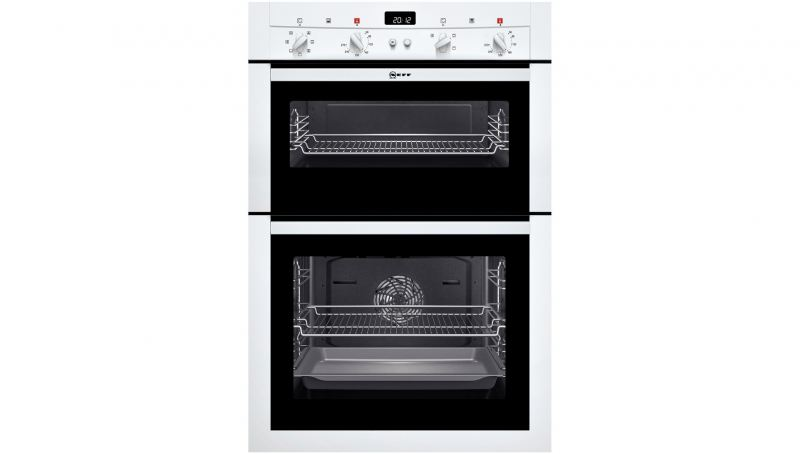 neff u14m42n3gb double built in electric oven black or wight fast forward. Black Bedroom Furniture Sets. Home Design Ideas