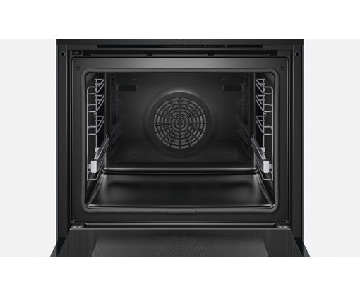 bosch series 8 hbg6764b1b black built in single pyrolytic oven fast forward. Black Bedroom Furniture Sets. Home Design Ideas