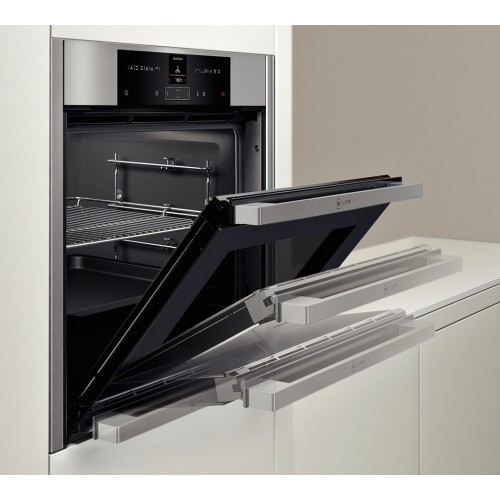 Neff b45cs32n0b built in electric oven slide hide fast forward - Neff single oven with grill ...